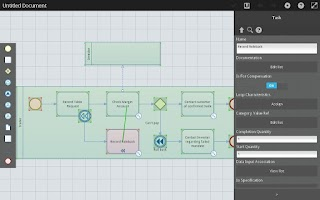 Screenshot of ProcessCraft BPMN
