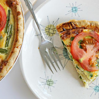 Spring Quiche with Asparagus, Peas, and Gruyere