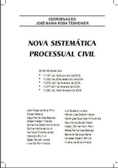 Nova Sistemática Processual Civil