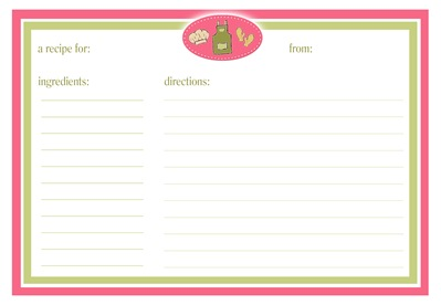 recipe cards2~ print copy copy