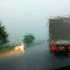 Rain by Claudiu Petrisor - Landscapes Weather ( flooding, opaque, cars, raindrops, opa, rain )