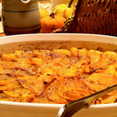 Scalloped Butternut Squash Gratin
