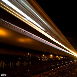 Light Trail of a Train. by Soumin Saha - Abstract Light Painting ( Urban, City, Lifestyle )