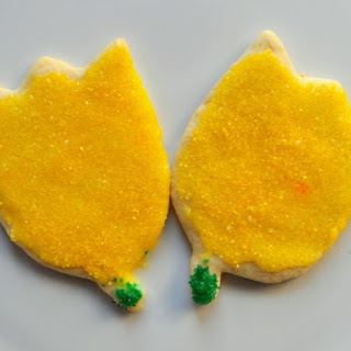 Iced Lemon Tulip Cookies