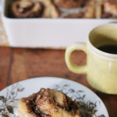 One Hour Maple Pecan Cinnamon Rolls