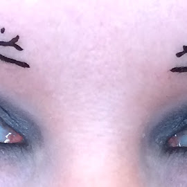 Cat's eyes! by Lyne Chartier-Gagnon - People Body Art/Tattoos ( cat, girl, tatoo, eyes,  )