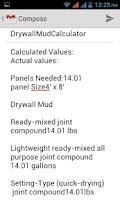 Screenshot of Dry Wall Mud Calculator