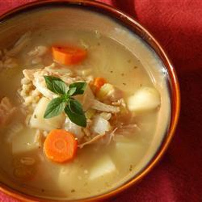 Leftover Roast Turkey Soup
