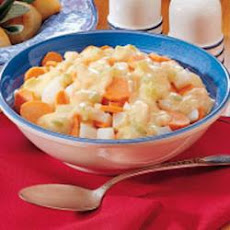 Cheesy Turnips and Carrots