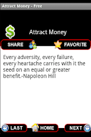 Screenshot of Attract Money Affirmations