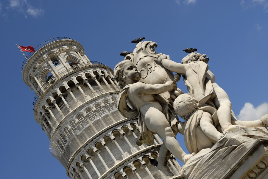 The Leaning Tower by Simon Harding - Buildings & Architecture Statues & Monuments ( tower, leaning, nikon d200, simon harding, pisa, italy,  )