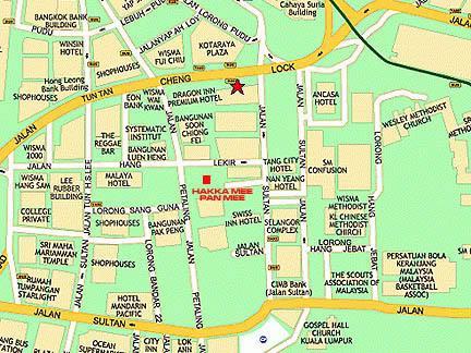 Map petaling street chinatown hakka pan mee malaysia food map petaling street chinatown hakka pan mee sciox Choice Image