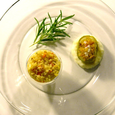 Quinoa-Stuffed Kohlrabi over Lemon-Rosemary Bechamel