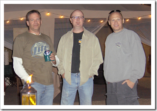 Bill McVicker, Larry Krough and Donavon West (L-R)