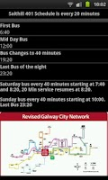 Screenshot of Galway Bus Timetable