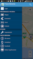 Screenshot of Prezzi Benzina
