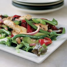 Chicken, Roasted Red Pepper and Green Bean Salad