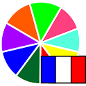 Colors in French icon