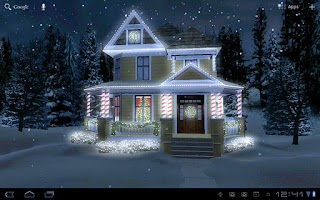 Screenshot of Holiday Lights Live Wallpaper