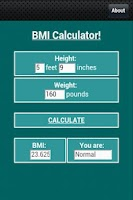 Screenshot of BMI Calculator!