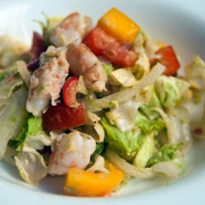 Lobster and Hearts of Palm Salad with Avocado Buttermilk Dressing