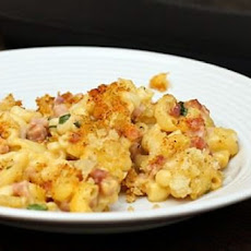 Cheddar Mac and Ham Casserole