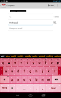 Screenshot of Floating Hearts Keyboard