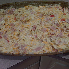 Cheesy Ham Hash Browns Casserole
