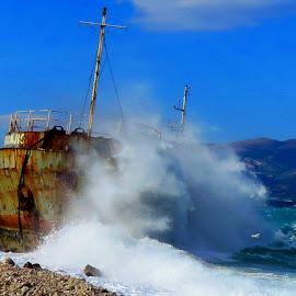 old rusty ship by Darko Čaleta - Transportation Boats
