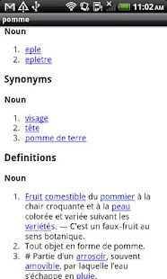 Norwegian-French Dictionary - screenshot