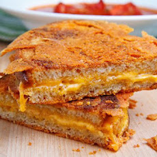 Caramelized Cheese Covered Grilled Cheese Sandwich