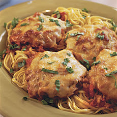 Pounded Pork Parmesan With Linguine