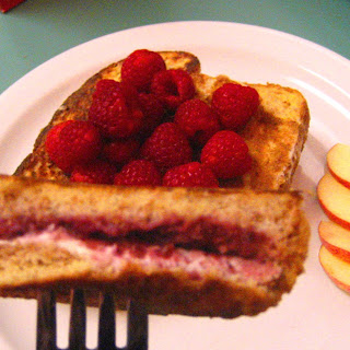 Raspberry and Cream Cheese Stuffed French Toast