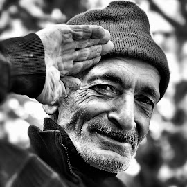 by Mahmoud Reza Moeinpour - People Portraits of Men ( black and white, people, portrait, man )