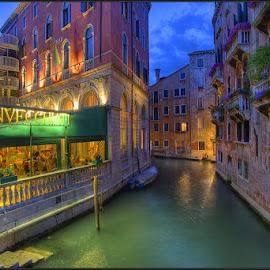 Venezia! by Paul Sirugo - City,  Street & Park  Street Scenes ( water, venezia, veneto, venice, canal, italy )