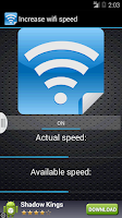 Screenshot of Increase wifi speed