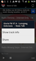 Screenshot of Indonesian Radio Music & News