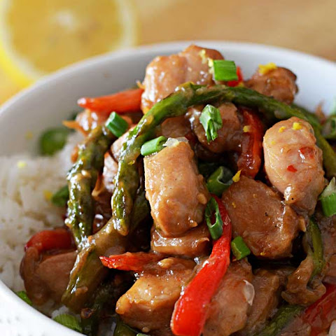 Garlic Lemon Chicken Stir Fry