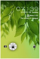 Screenshot of Galaxy S4 leaf  LOCK SCREEN