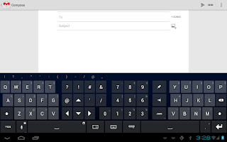 Screenshot of Thumb Keyboard