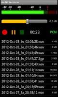 Screenshot of AudioRecorder