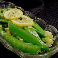 Lemony Sugar Snap Pea Stir-Fry