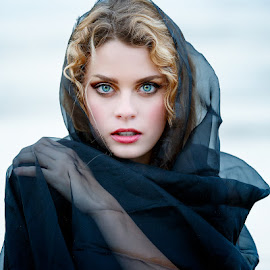 by Terry Turner - People Portraits of Women ( blue eyes, beauty )