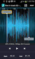 Screenshot of Ringtone Maker MP3 MusicCutter