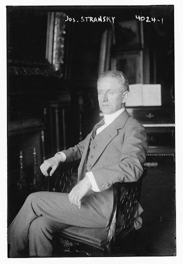 Josef Stransky, a Czech conductor and composer, conducted the New York Philharmonic from 1911–23, replacing Gustav Mahler. He gave up conducting shortly after leaving the Philharmonic to become an art dealer and collector.