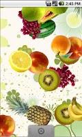 Screenshot of Falling Fruit Live Wallpaper