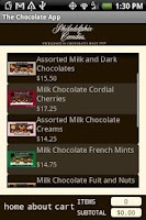 Screenshot of The Chocolate App