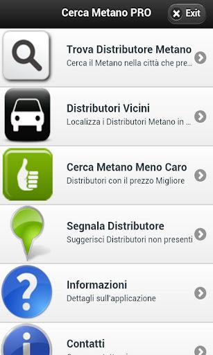 Cerca Distributori Metano PRO - screenshot