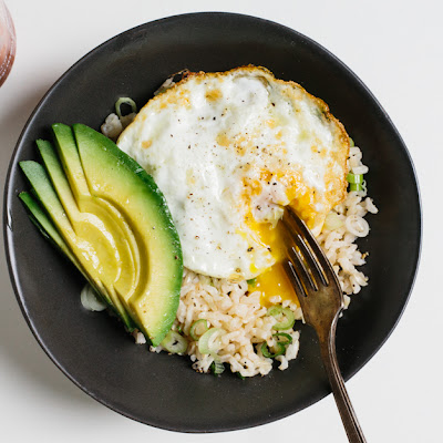 Rice Bowl with Fried Egg and Avocado