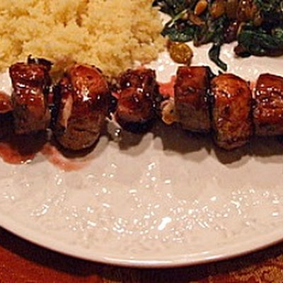 Cherry- Glazed Pork with Couscous